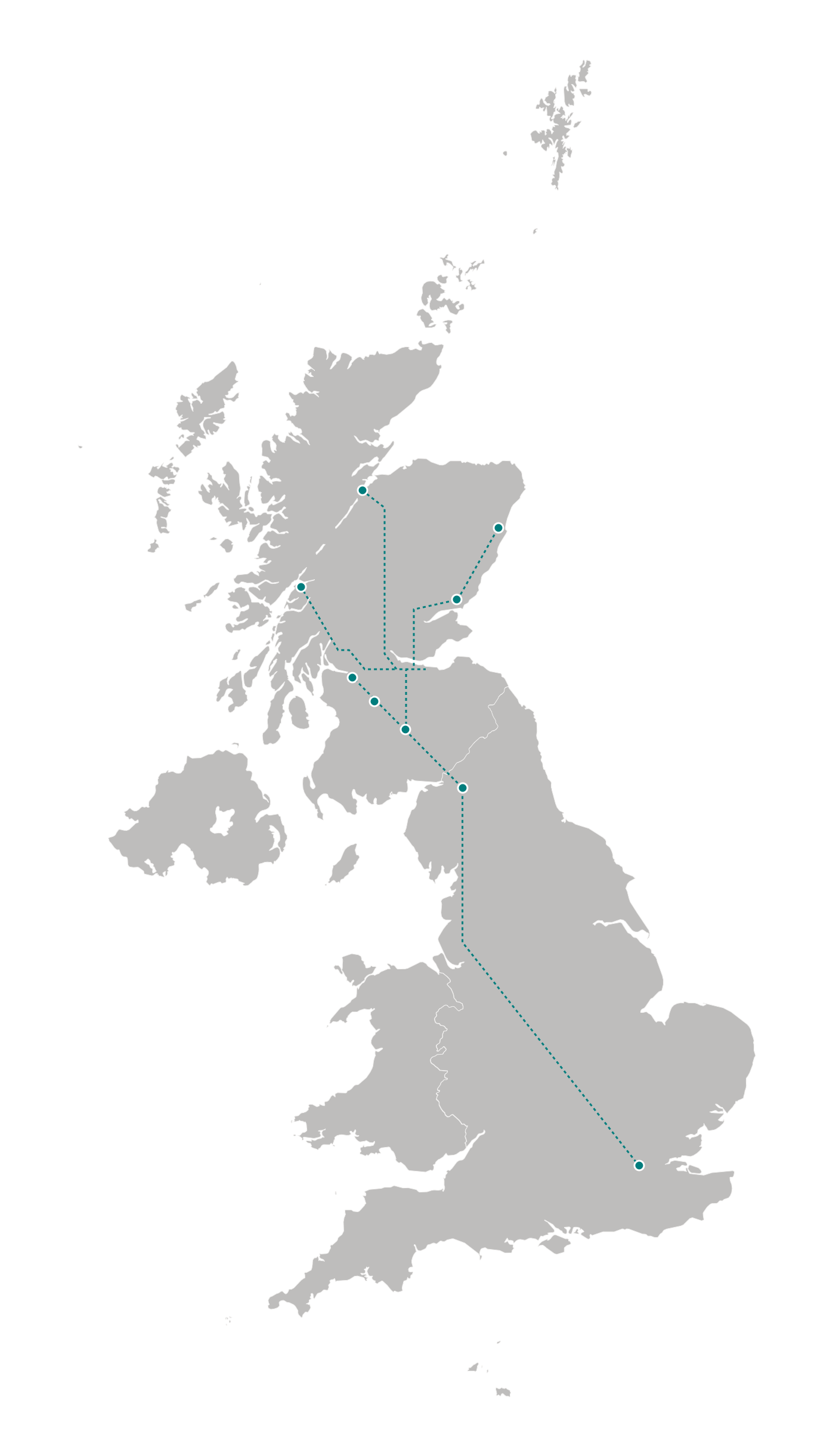Caledonian Sleeper routes
