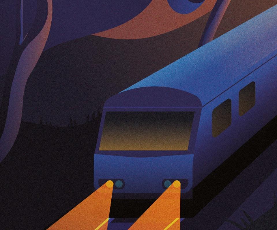 Caledonian Sleeper Posters | Edinburgh edition