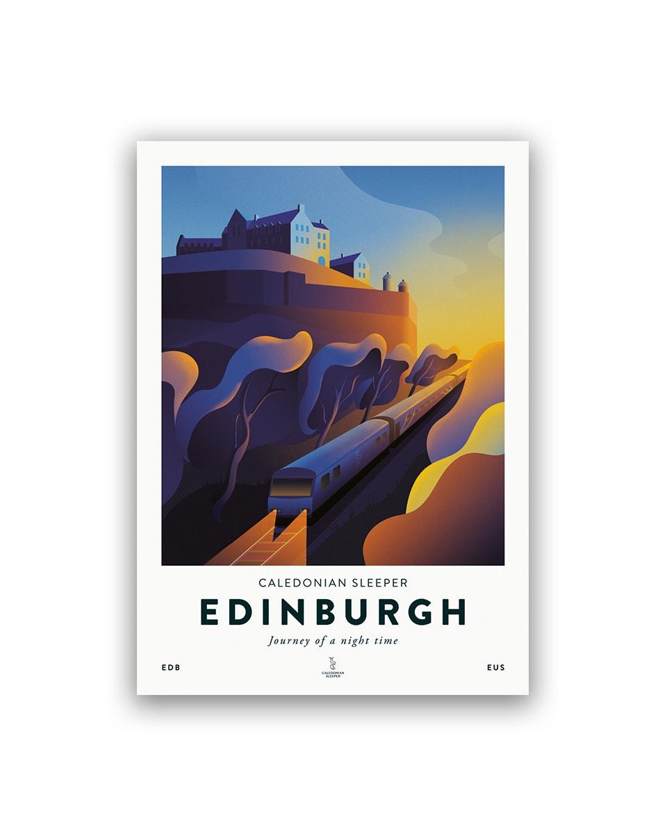 Caledonian Sleeper Poster | Edinburgh Edition
