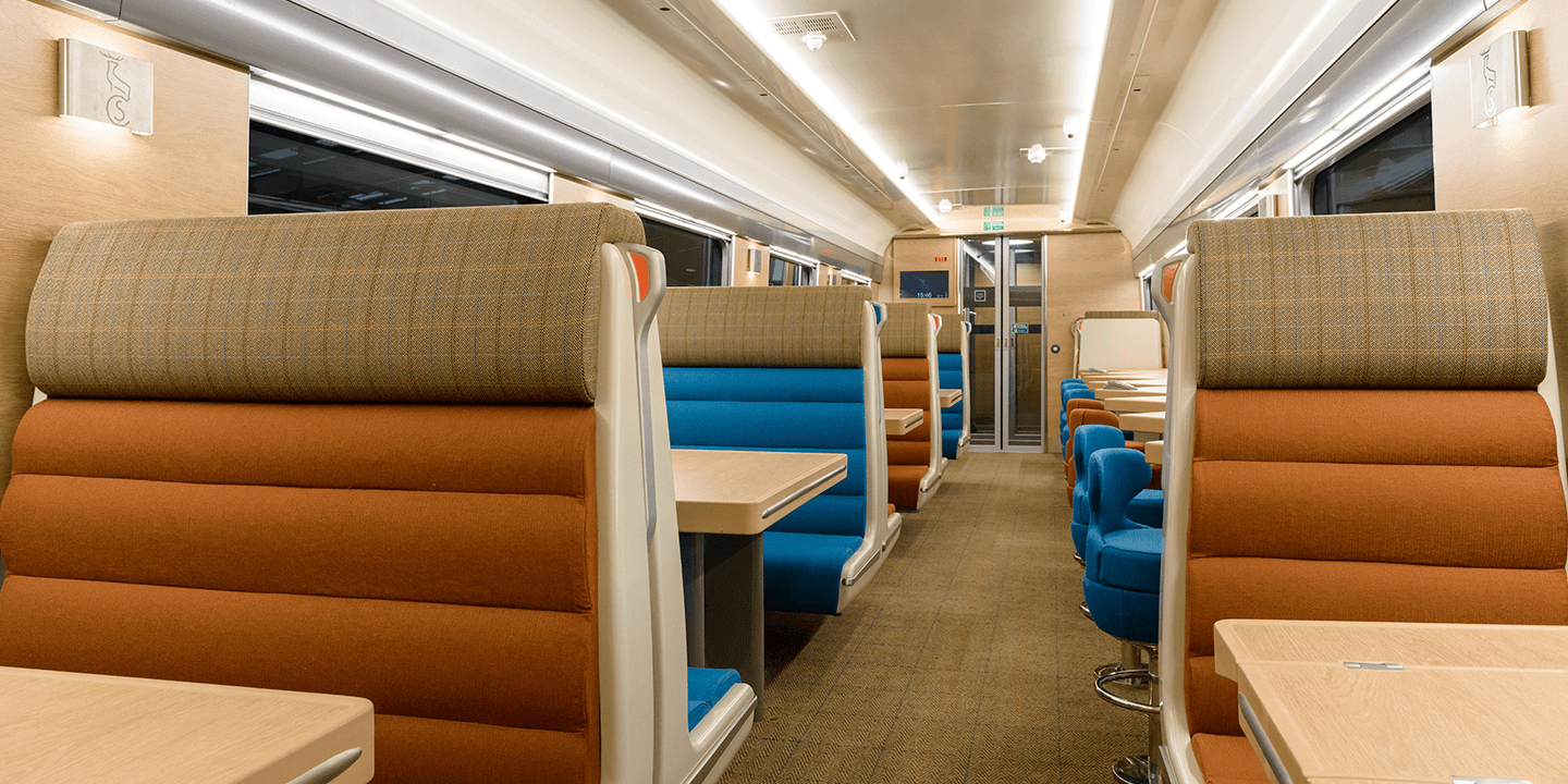 Travel in style on the Caledonian Sleeper Club Car